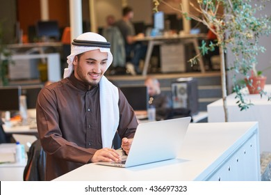 Arabian businessman working in modern office