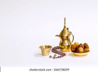 Arabian coffee with dates food