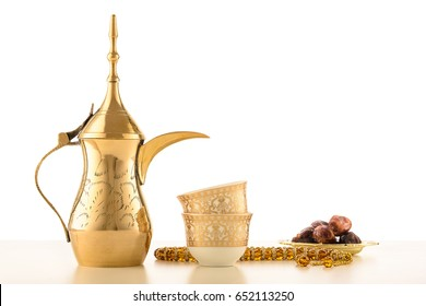 Arabian Coffee traditional set with dates