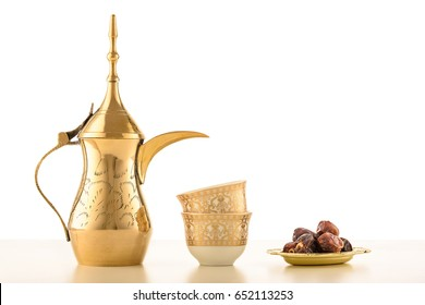 Arabian Coffee traditional set and dates