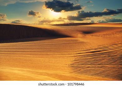 Arabian desert during sunset