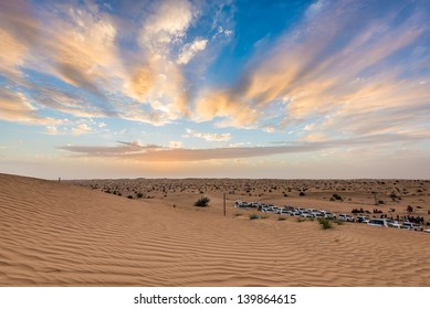 Arabian desert during sunset