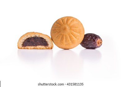 Arabian Eid dates sweets isolated.
