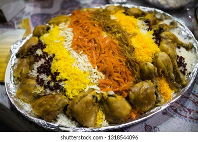 Arabian food rice and chicken