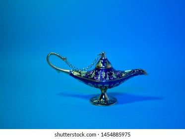 Arabian genie style lamp of desires