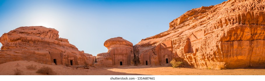 Arabian historical site Madain Saleh, Saudi Arabia