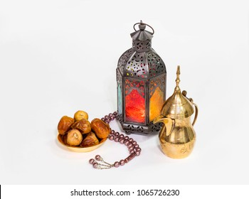 Arabian Lantern with Arabic coffee