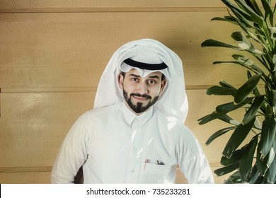 Arabian man smiling.