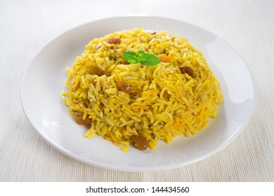 Arabian rice kabsa, Ramadan food in middle east.