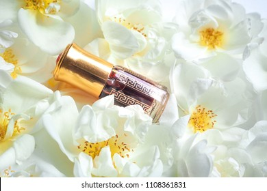 Arabian rose Attar oil. Traditional Arabic incense