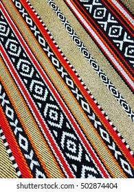 Arabian Sadu Rug Weaving Patterns Closeup