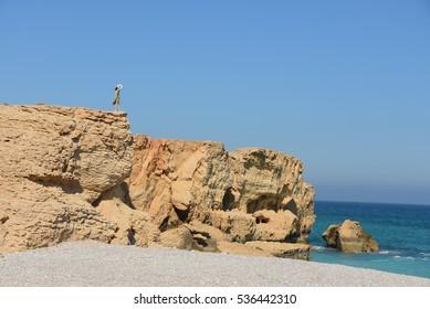 Arabian sea at Tiwi, Oman