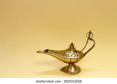 Arabian souvenir, Gold-colored lamp figure