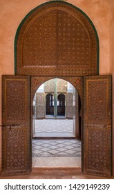 Arabic arquitecture in Telouet Kasbah, Morocco