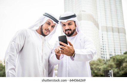 Arabic businessmen in Dubai