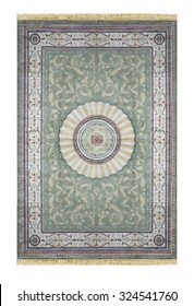 Arabic carpet isolated on white background