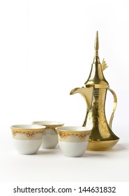 Arabic coffee mugs and pot