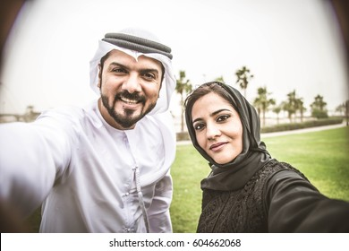 Arabic couple with traditional dress