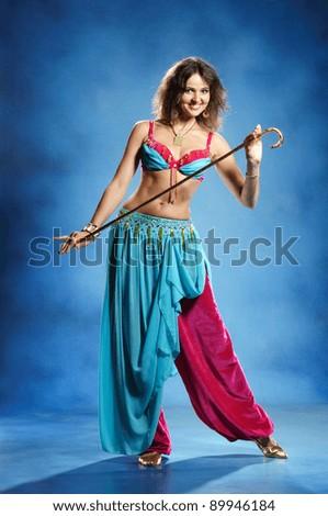 6dca9a8ec517b Arabic Dance Performed By Beautiful Brunette Stock Photo (Edit Now ...