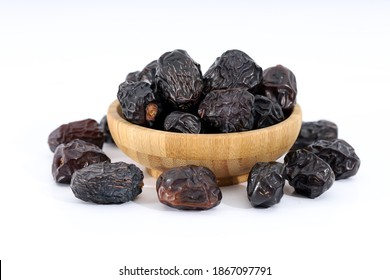 Arabic dates, ajwa dates on the white