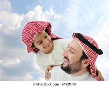Arabic father and little kid