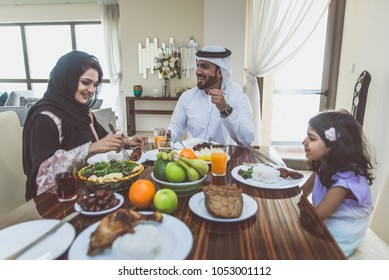 Arabic happy family lifestyle moments at home