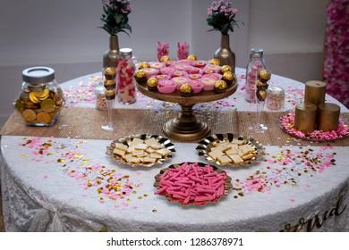 Arabic and Iranian wedding table decoration