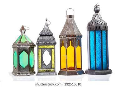 Arabic lamp Isolated a white background