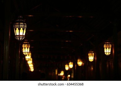 arabic lantern in night, Dubai  - United Arab Emirates