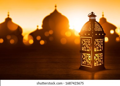 Arabic lantern, Ramadan kareem background