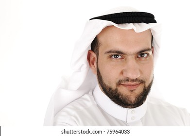 Arabic man portrait isolated