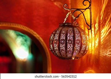 Arabic marocco style lamp as en element of interior