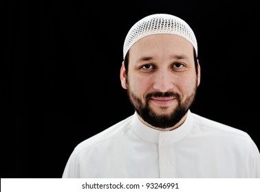 Arabic Muslim man with beard portrait