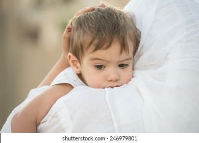Arabic Muslim Middle Eastern woman with baby