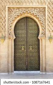 Arabic oriental styled door in Rabat, Morocco