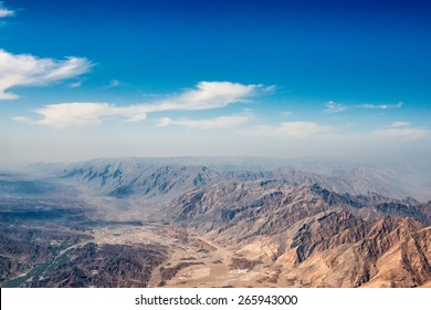Arabic peninsula oman mountains aerial panorama