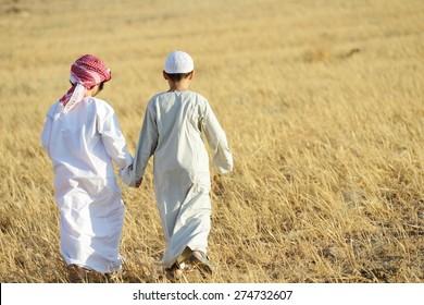 Arabic people enjoying in nature