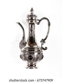 Arabic silver jug