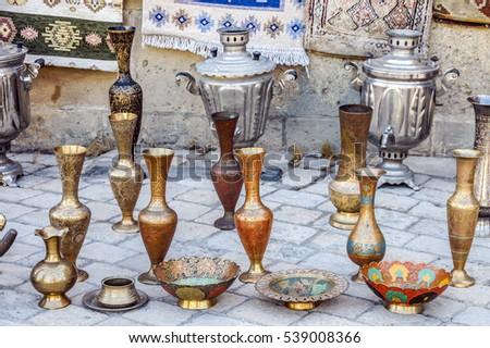 Arabic Steel Vases Ancient Steel Jugs Stock Photo Edit Now