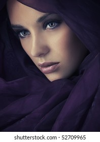 Arabic style portrait of a young beauty