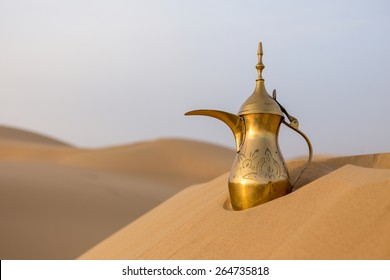 Arabic tea pot on Desert
