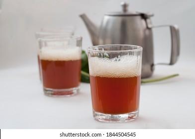 arabic traditional tea on white