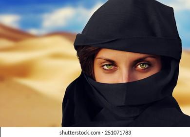 arabic woman in chador
