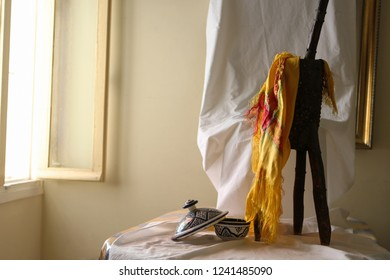 arabic wood accessory with amazigh scarf