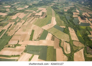Arable land aerial photography in Vojvodina, Serbia