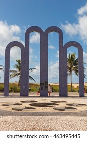 ARACAJU, SE/BRAZIL - JUNE 24: Archway Arcos da Orla to famous beach Atalaia on June 24, 2016 in Aracaju. Aracaju is capital of Sergipe, hosts 7 teams for Summer Olympics