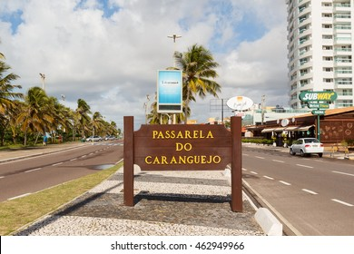 ARACAJU, SE/BRAZIL - JUNE 24: Catwalk Passarela de caranguejo on famous beach Atalaia on June 24, 2016 in Aracaju. Aracaju is capital of Sergipe, hosts 7 teams for Summer Olympics