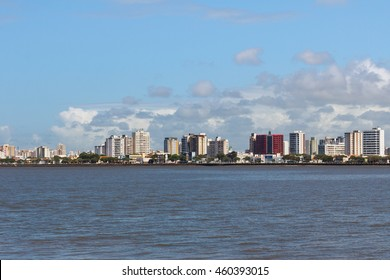 ARACAJU, SE/BRAZIL - JUNE 24: Panoramic view of city center, buildings, hotels and river on June 24, 2016 in Aracaju. Aracaju is capital of Sergipe