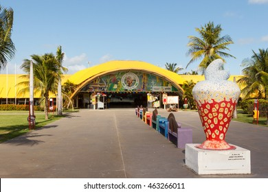 ARACAJU, SE/BRAZIL - JUNE 27: Art and cultural center J Inacio on beach Atalaia on June 27, 2016 in Aracaju. Aracaju is capital of Sergipe, hosts 7 teams for Summer Olympics. Selective focus