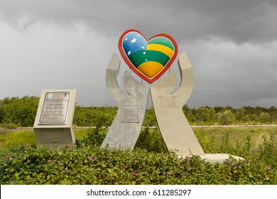 ARACAJU, SERGIPE/BRAZIL - June 25: Sign of Sergipe state on June 25, 2016  in Aracaju. Selective focus. Sergipe is the smallest state of the Brazilian Federation